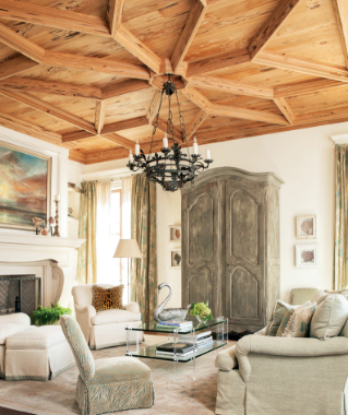 Gorgeous Carved Wood Ceiling