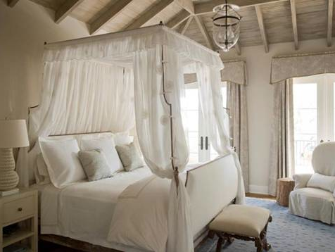 Wood Paneling and Beams on Ceiling
