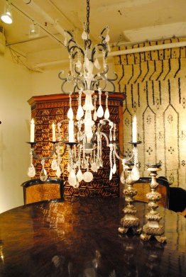 The Ebanista showroom was a real show-stopper when it came to their stunning collection of chandeliers