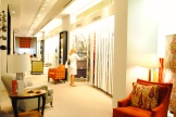 Browsing for a client in the Kravet showroom