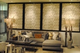 The first display you see when walking into the Kravet showroom--I fell in love!