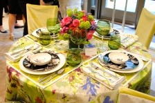 JAB Anstoetz showroom table setting by Tara Seawright