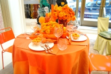JAB Anstoetz showroom table setting by Christopher Coleman