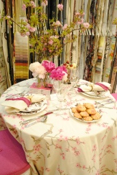 JAB Anstoetz showroom table setting by Bella Mancini