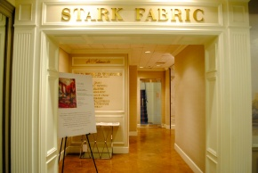 The grand entrance to the Stark Fabric showroom