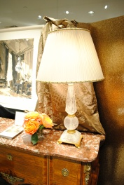 There was so much rock crystal this market! I loved this lamp in the Stark Fabric showroom