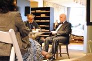 Robert Rufino and Jeremiah Goodman in the Stark Fabric showroom