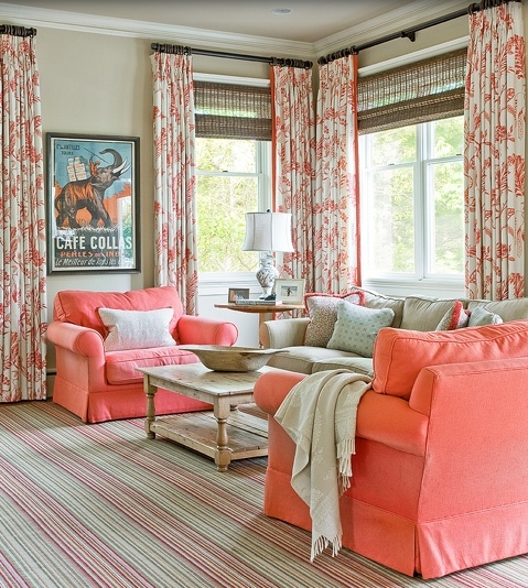 20 Living Rooms With Beautiful Use Of The Color Grey: Coral And Blue: Out Of The Ocean And Into Your Home
