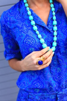 Cobalt Blue and Turquoise