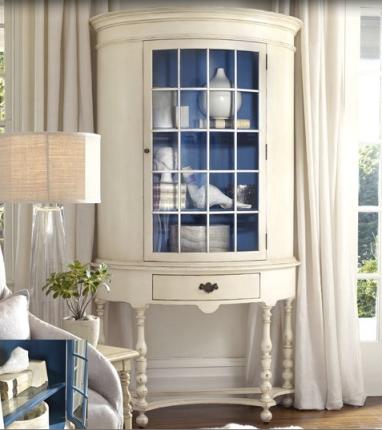 Cobalt Blue inside Cabinet