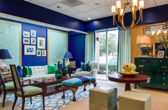 Cobalt Blue Showroom