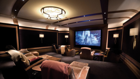 Intimate but not small Media Room