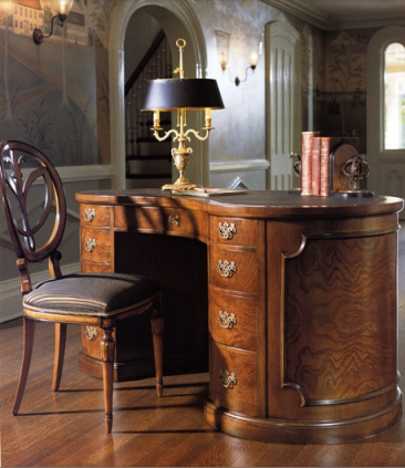 Kidney Shaped Desk, Biedermeier Chair