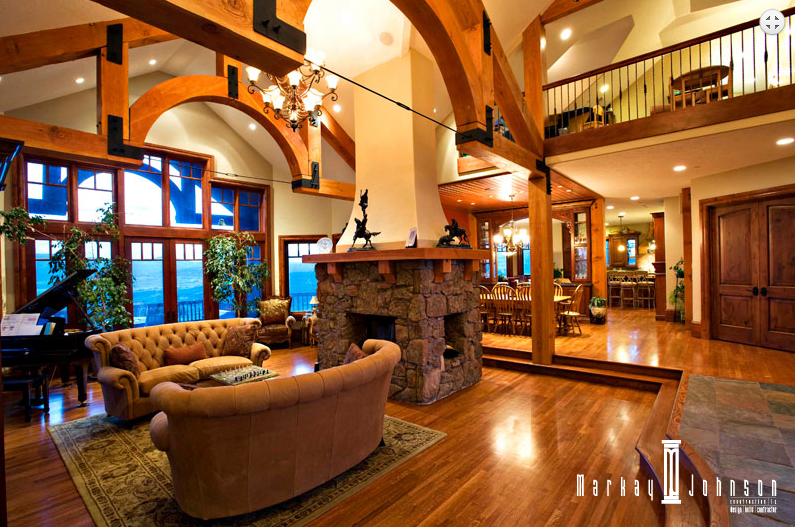 Dhotw designer architect markay johnson design secrets for Four sided fireplace