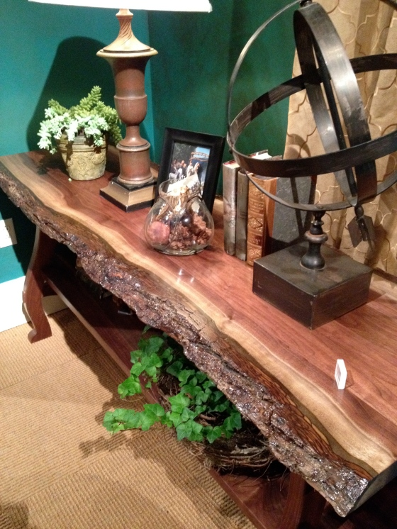 Harden Furniture Bark Edge Console Table