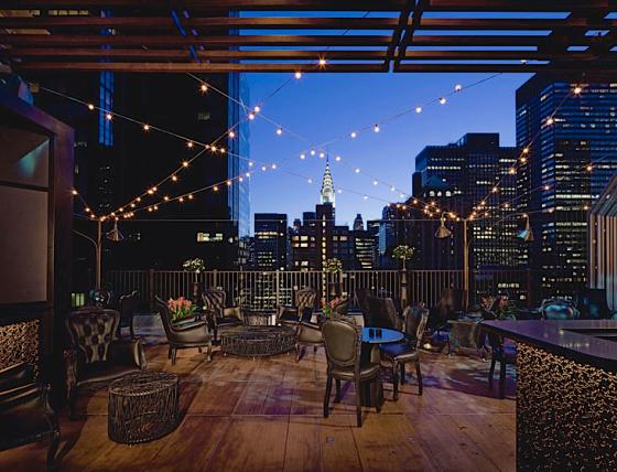 Upstairs At Kimberly Rooftop Bar NYC