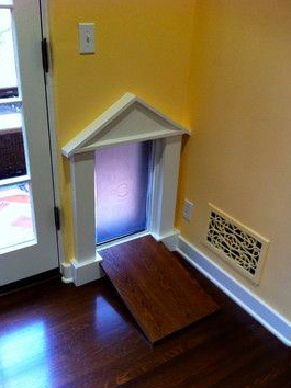 Dog door sheetrock