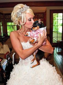 Carrie Underwood with dog