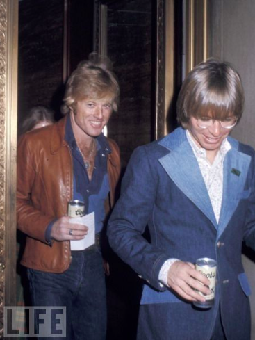 Robert Redford, John Denver, Men, Fashion, 1970, jeans, denim