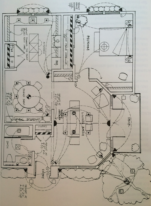 Sample drawing of a lighting design.