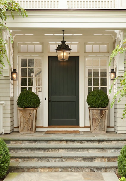 Outdoor lighting should be bright and inviting.