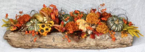 Earthy and warm, a lovely floral for your table or mantle.