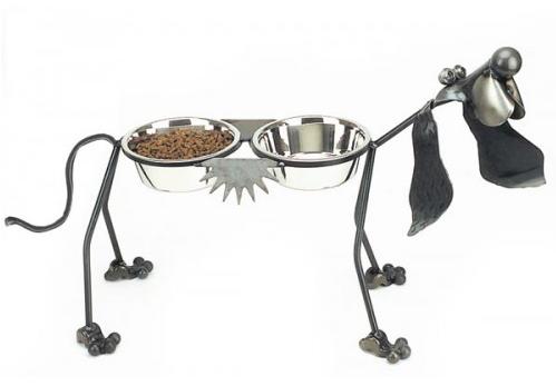 dog feeder hound unique whimsical gift pet feeder bowl