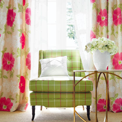 Anna French fabrics and wallpapers are bright and fresh.