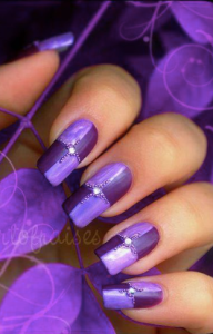 purple. nails, manicure,