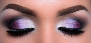 purple, eye, makeup, brown,