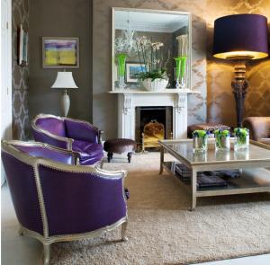 purple, leather, chair, glamorous,
