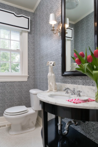 Tiffany Eastman does it again. What an adorable way to add a little something extra to this bathroom.